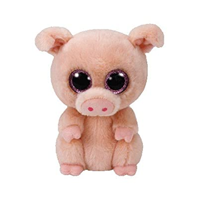 Ty Beanie Boo Plush - Piggley The Pig 15cm: Toys & Games