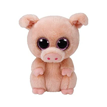 Amazon.com  Ty Beanie Boo Plush - Piggley The Pig 15cm  Toys   Games 57b20e59a98
