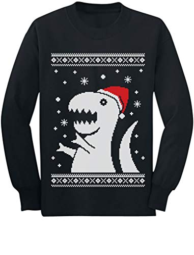 Big Trex Santa Ugly Christmas Sweater Style -