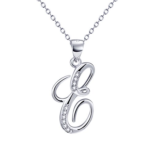 YFN Sterling Zirconia Alphabet Necklace