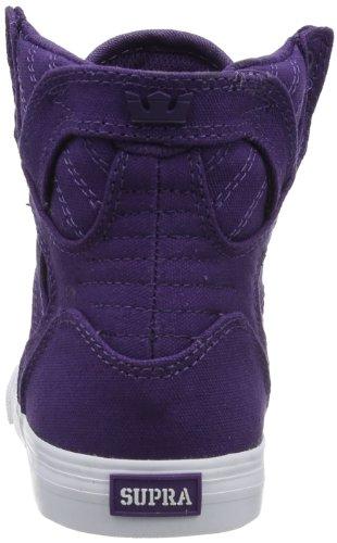 Supra KIDS SKYTOP S13025K - Zapatillas de lona para unisex-niño, color morado, talla 29 Morado (Violett (PURPLE - WHITE PUR))