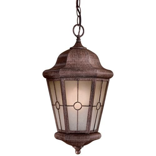 Minka Lavery 8214-A61-PL Montellero 1 Light Outdoor Chain Hung Lantern, Vintage Rust Finish