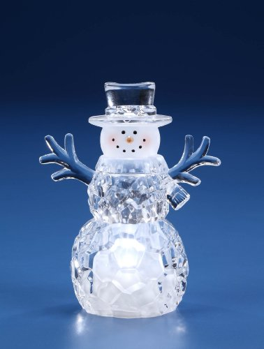 Small Top Hat Snowman LED