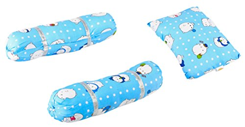 Buy Baybee Baby Pillow And Bolster Set Pink Blue Online At Low