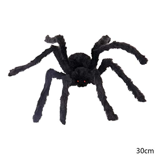 Party DIY Decorations - Good Big Wire Plush Material Spider Realistic Black Horrible Fake Spiders Toy Home Party Halloween - Party Material Story Pink Party Plush Wire Birthday Ariel Toy Birt ()