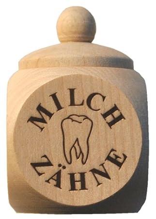 Sonstige MILCHZAHNDOSE Milchzähne Dose Schraubdeckel Holz mit Gravur Name Vorname Motorikspielzeug