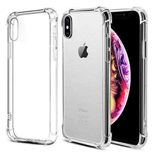 new product 5fd15 30012 iPhone Xs Case, Baseus Anti-Knock Phone Case Compatible for iPhone Xs Soft  TPU Silicone Cover Protective Back Case(Transparent)
