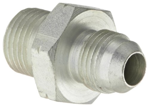 Eaton Aeroquip 15.117-8-6 Male JIC to 60 Degree Tube Seat, Metric, JIC 37 Degree & Metric End Types, Steel, 3/8 JIC(m) x M16(m) End Size, 3/8