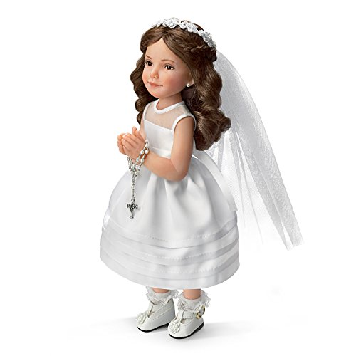 The Ashton - Drake Galleries Jane Bradbury First Communion Porcelain Doll with Rosary and Bible
