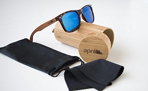 con Modelo mano hombre april® a 262 polarizadas de Gafas mujer patillas hechas W madera natural sol de unisex PqqHIA