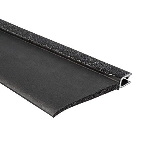 Trim-Lok 7B350B2X1/4C-100 EPDM Closed Cell Sponge Rubber/PVC/Aluminum Flap Seal, 3.39'' Height, 1'' Top Flap, Fits Edge 1/4'', 100' Length by Trim-lok