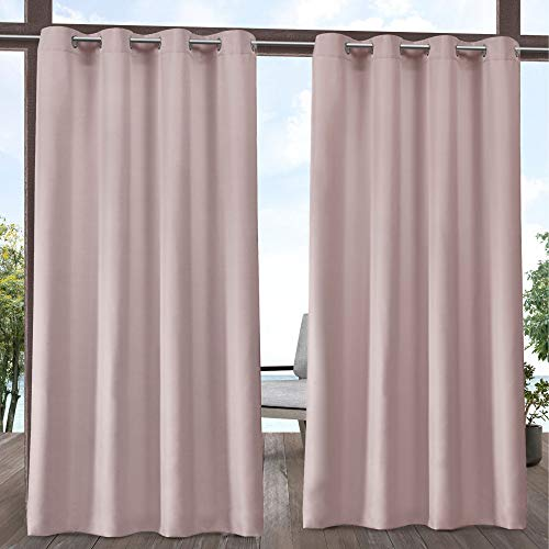Exclusive Home Curtains Indoor/Outdoor Solid Curtain Panel, 54x120, Blush