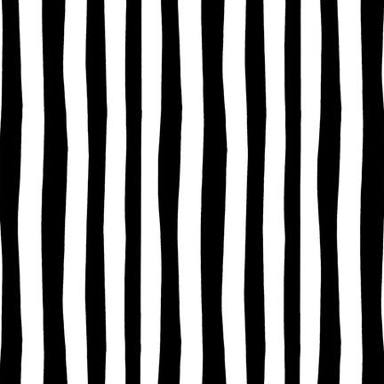 Squiggle Stripe - Celebrate Seuss Black/white Squiggle Fabric Two Yards (1.8m)