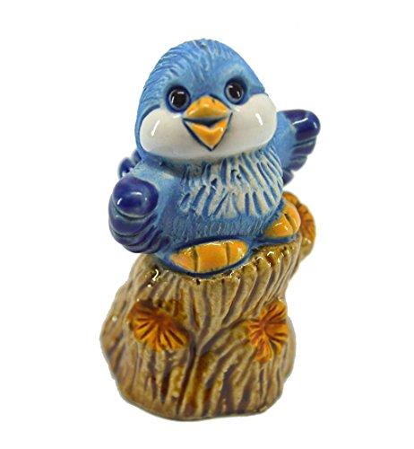 Rinconada 2017 Collection, small Blue BIRD tweeting, 2.2¨H, #AR803A