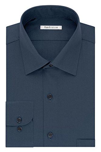 blue sateen dress shirt - 4