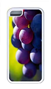 iPhone 5C Case and Cover - Delicious Grapes Cool TPU Case Cover Protector For iPhone 5C - White