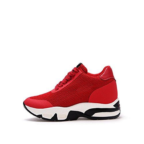 Rosso Tennis Bianco LILY999 Tacco da Interna cm Donna Nero Fitness Scarpe Rosso Sportive Sneakers Zeppa Zeppa 8 Ginnastica Z1wzqZax