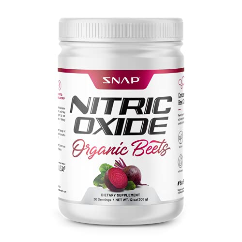 Beet Root Powder Organic – Nitric Oxide Beets by Snap Supplements – Supports Lower Blood Pressure and Circulation…