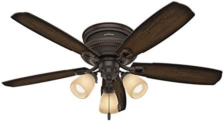 HUNTER 53356 Ambrose Indoor Low Profile Ceiling Fan