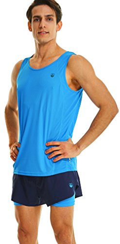 Leevy Tank Tops for Men Ultra Lightweight Running Tank Dry Fit Sleeveless Shirt(US Large=Tag 3XL ()