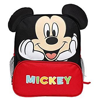 Disney Mickey Mouse New 3D Ears Red & Black 12