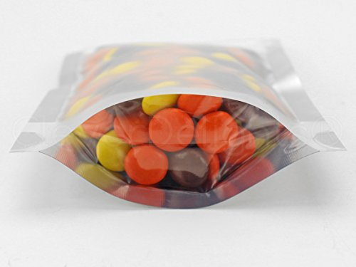 1000 Pack - CleverDelights Silver/Clear Stand-Up Pouches - 4'' x 6'' x 2'' - 2oz - Resealable Ziplock Bag by CleverDelights (Image #1)