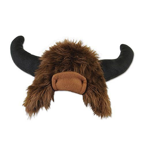 Beistle 60052 Plush Buffalo Hat, Brown/Black