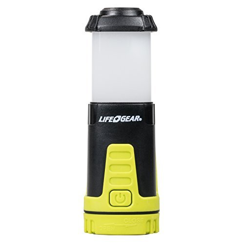 Life Gear Compact Collapsible Mini Lantern with Bright Flashlight, Assorted Colors
