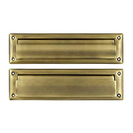Deltana MS212U5 13 1/8-Inch Mail Slot with Solid Brass Interior Flap - Deltana MS212U5 13 1/8-Inch Mail Slot With Solid Brass Interior Flap