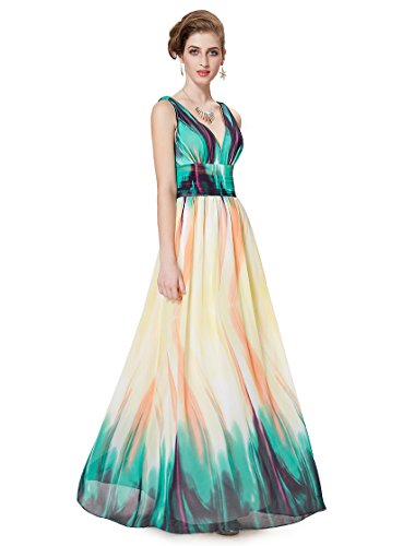Ever Pretty Womens Empire Waist Maxi Summer Beach Dress 8 US Green