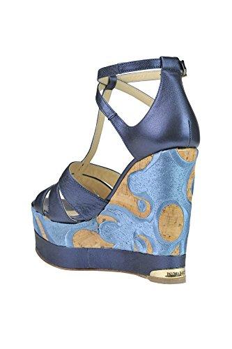 MCGLCAT03173E Femme Bleu PALOMA BARCELÓ Cuir Chaussures Compensées 0n8q4Z