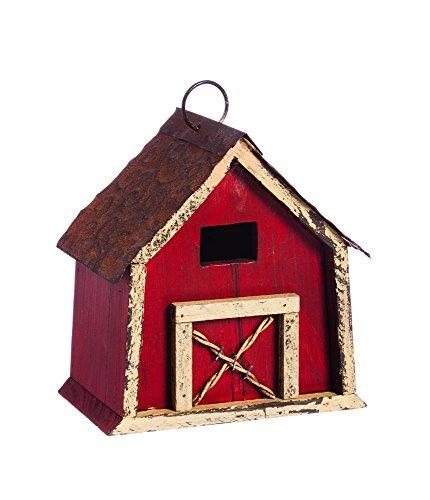 Evergreen Rustic Barn Birdhouse