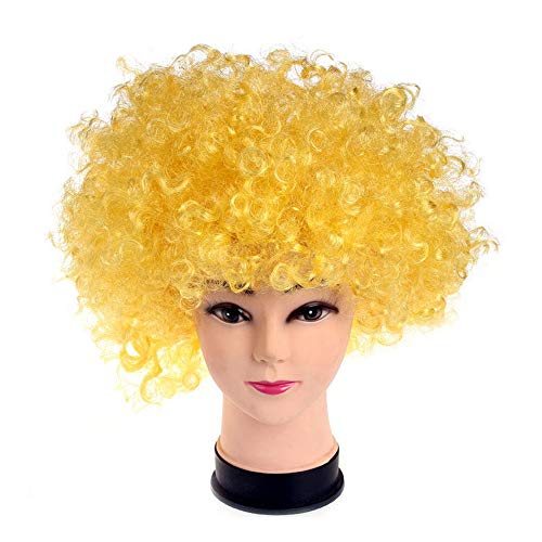 Yellow Clown Wig (R STAR Funny Clown Curly Afro)