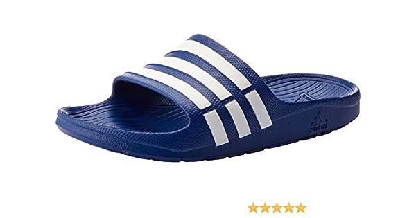timeless design ee369 7a7cc adidas Men Sandals Swimming Duramo Slides Blue Beach Shoes Unisex G14309 New