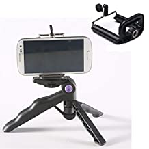 Mini Tripod & Mount Holder Desk Stand for Cell Phone Smartphone Camera iPhone iPod Touch HTC Samsung BlackBerry Hand Hold