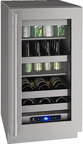 U-Line UHBV518SG01A 5 Class Series 18 Inch Freestanding or Built In Beverage Center in Stainless Steel