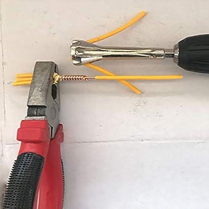 TOOGOO Pince /à D/énuder Automatique /électricien Dispositif de Ligne Tordu Peeling 4-6 Connecteur Carr/é G/én/éral /à 5 Fils Outils de Torsion