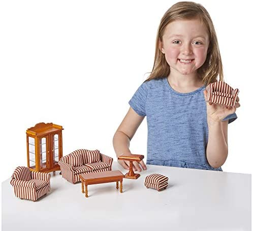 toys, games, dolls, accessories, dollhouse accessories,  furniture 12 discount Melissa & Doug Doll-House Furniture- Living Room Set promotion