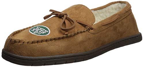 - FOCO NFL New York Jets Mens Football Team Logo Moccasin Slippers Shoesfootball Team Logo Moccasin Slippers Shoes, Team Color, X-Large (13-14)