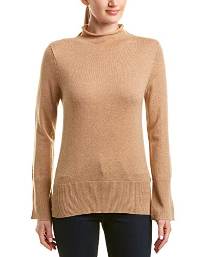 White + Warren Womens Wool & Cashmere-Blend Funnel Neck Pullover, S, ()