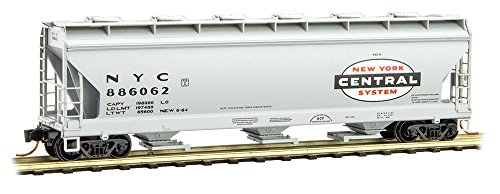 - Micro-Trains MTL N-Scale Centerflow Covered Hopper New York Central/NYC #886062