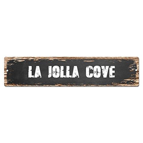 LA JOLLA COVE Sign Vintage Rustic Street Sign Plate Beach Bar Pub Cafe Restaurant shop Home Room Wall Door Decor sign Digital - Street La Jolla