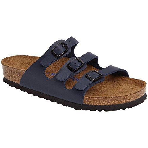 Birkenstock Women's Florida Soft Footbed Birko-Flor  Blue Sandals - 37 ()