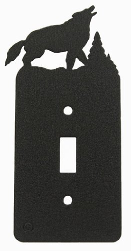 Howling Wolf Single Light Switch Plate Cover