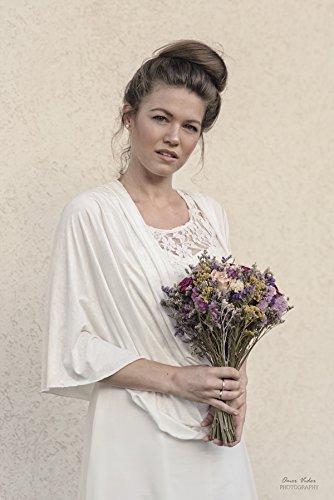 2129e59575abb Amazon.com: White Wedding bolero, Modest Bridal Cover Up You Can Wear As A  Shawl, Shrug, Crisscross And Scarf. Bridal Non Sheer Bolero: Handmade
