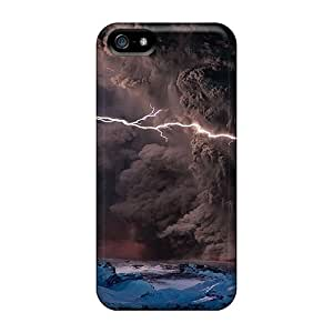 High Quality Lynutchins Volcano Eruption Lightning Skin Case Cover Specially Designed For Iphone - 5/5s