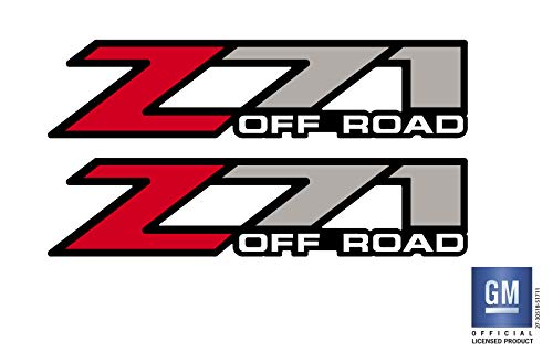 EmblemsPlus 1999 Thru 2006 Chevy Silverado 1500 2500 Truck Z71 Off Road Bed Side Decals Stickers Set of (2) GM Official Licensed Product (Off Road Bed Sides)