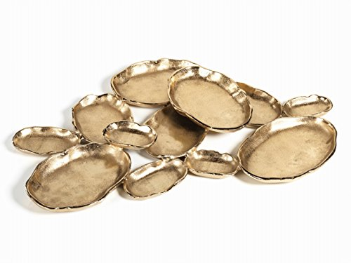 - Zodax IN-6296 12-Tier Cluster Oval Serving Bowl, Gold