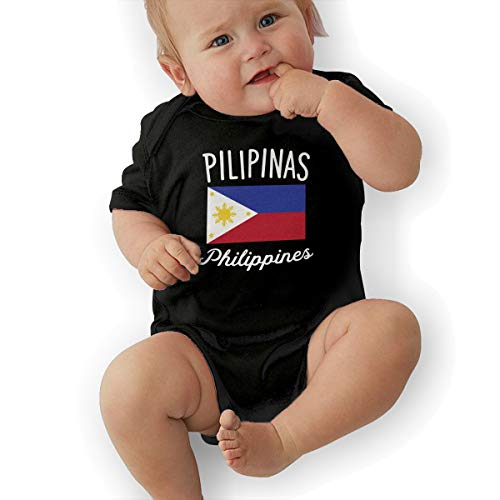 U88oi-8 Short Sleeve Cotton Rompers for Unisex Baby, Cute Philippines Flag Crawler -