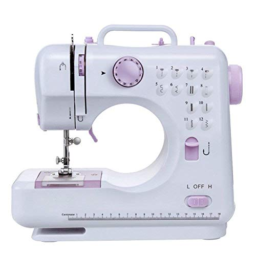 YMXLJJ Portable Household Sewing Machine 12-pin Double-line Two-Speed Electric Reverse Sewing Pedal LED Lighting Belt Foot Pedal Line Axis and Needle